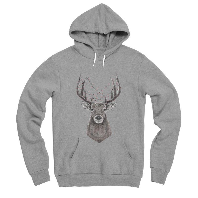 Xmas deer Men's Sponge Fleece Pullover Hoody by Balazs Solti
