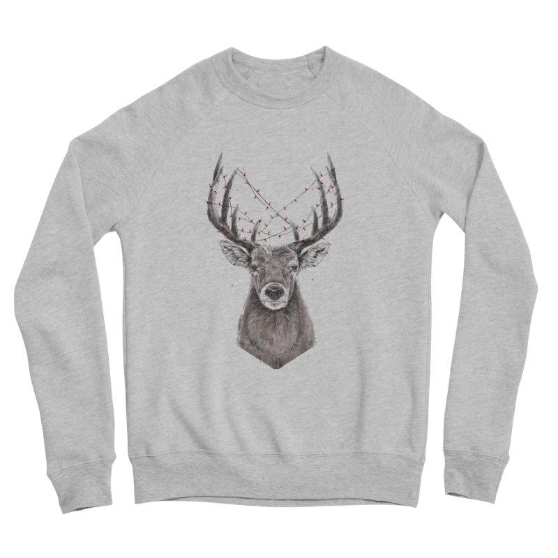Xmas deer Men's Sponge Fleece Sweatshirt by Balazs Solti