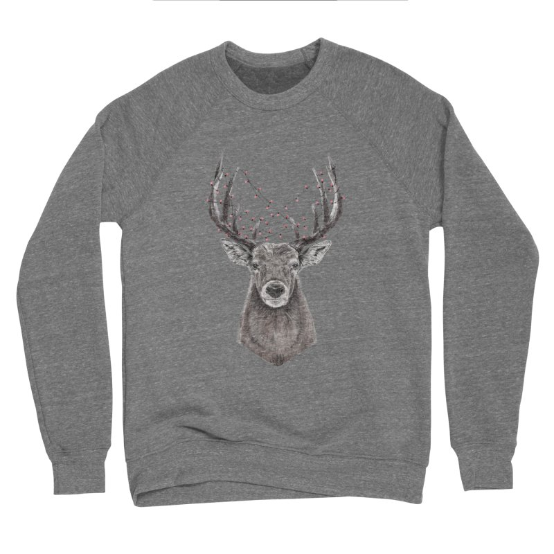 Xmas deer Women's Sponge Fleece Sweatshirt by Balazs Solti