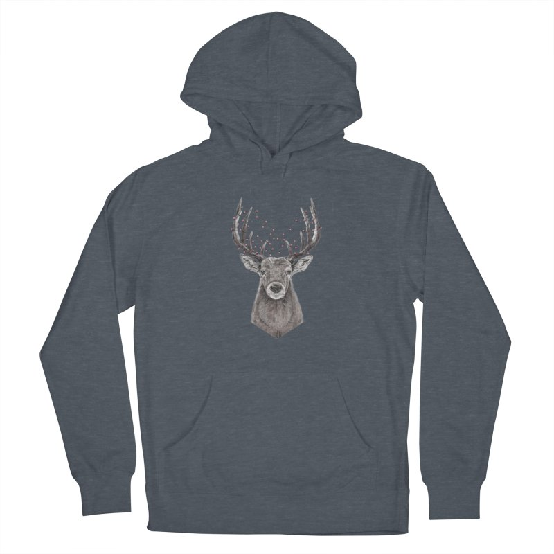 Xmas deer Women's French Terry Pullover Hoody by Balazs Solti