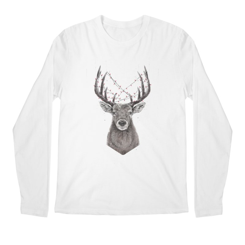 Xmas deer Men's Regular Longsleeve T-Shirt by Balazs Solti