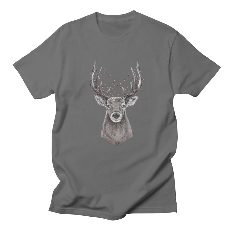 Xmas deer Women's Regular Unisex T-Shirt by Balazs Solti