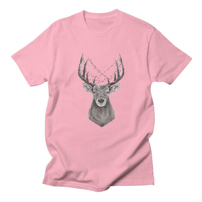 Xmas deer Men's Regular T-Shirt by Balazs Solti