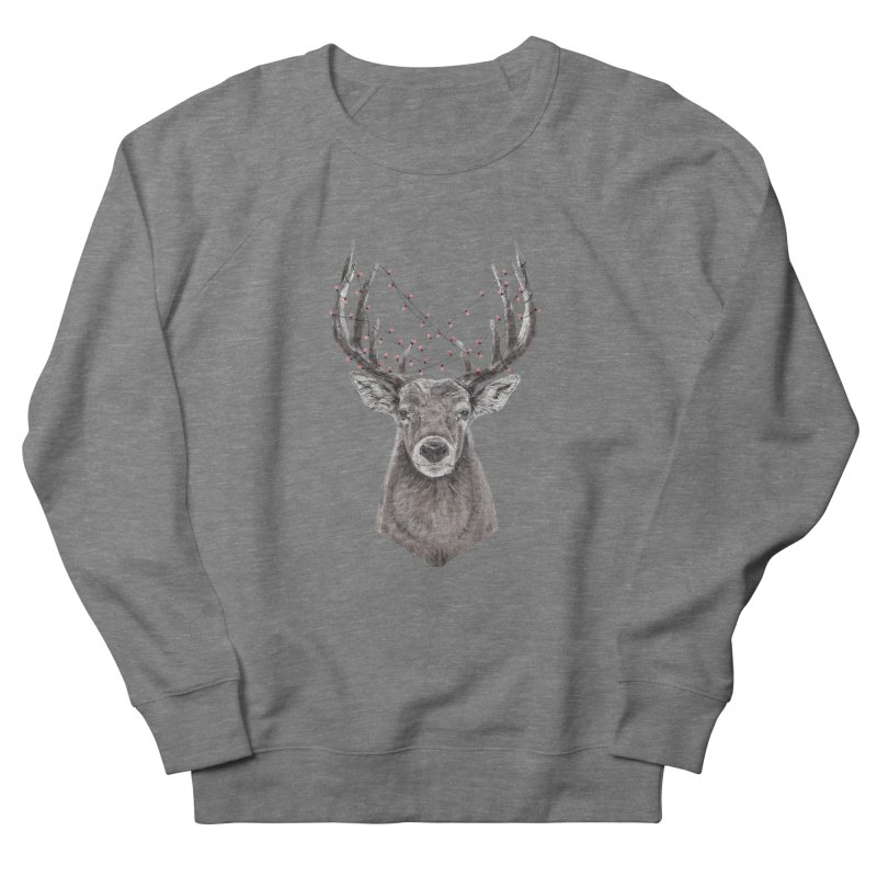 Xmas deer Men's French Terry Sweatshirt by Balazs Solti
