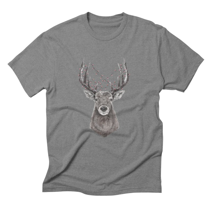 Xmas deer Men's Triblend T-Shirt by Balazs Solti