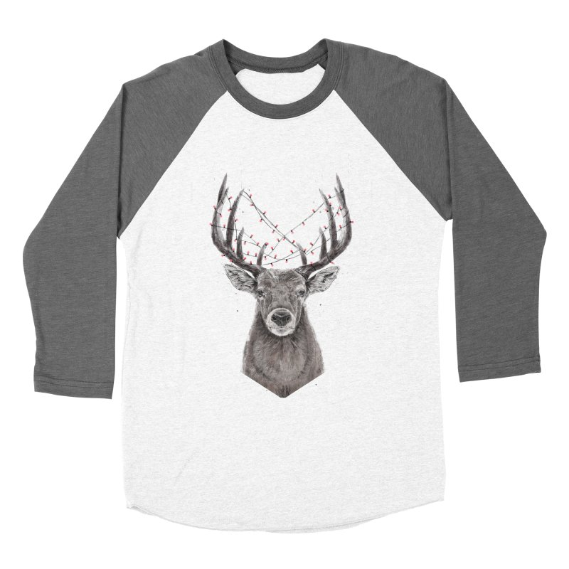 Xmas deer Men's Baseball Triblend Longsleeve T-Shirt by Balazs Solti