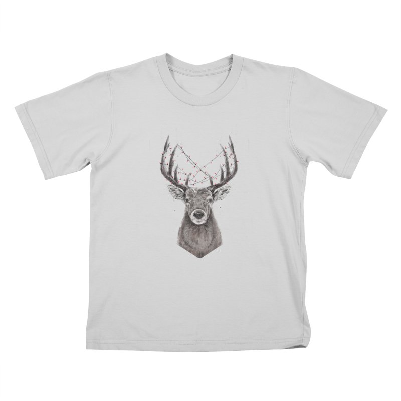 Xmas deer Kids T-Shirt by Balazs Solti