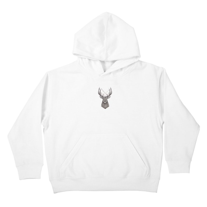 Xmas deer Kids Pullover Hoody by Balazs Solti