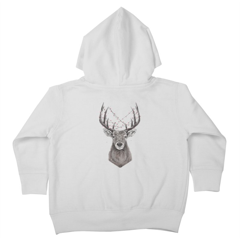 Xmas deer Kids Toddler Zip-Up Hoody by Balazs Solti