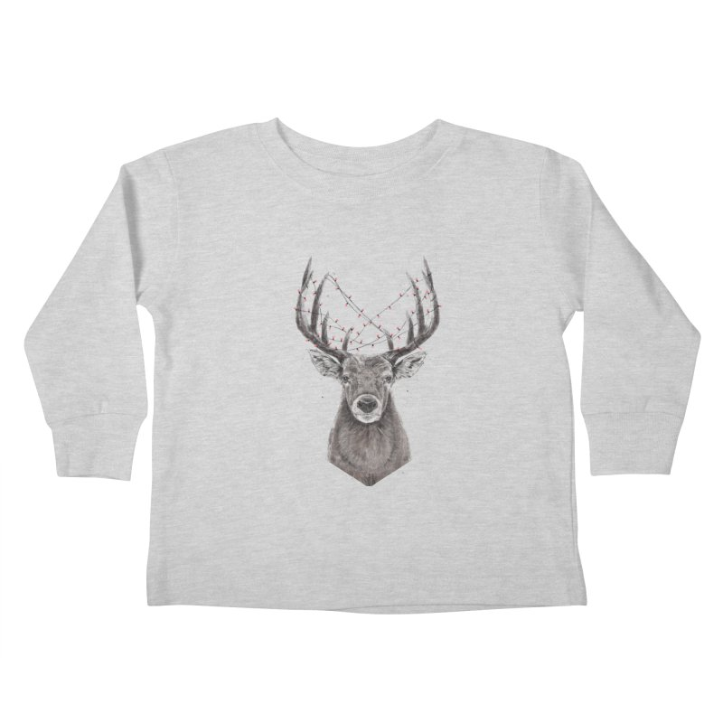 Xmas deer Kids Toddler Longsleeve T-Shirt by Balazs Solti
