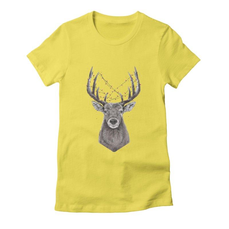 Xmas deer Women's T-Shirt by Balazs Solti