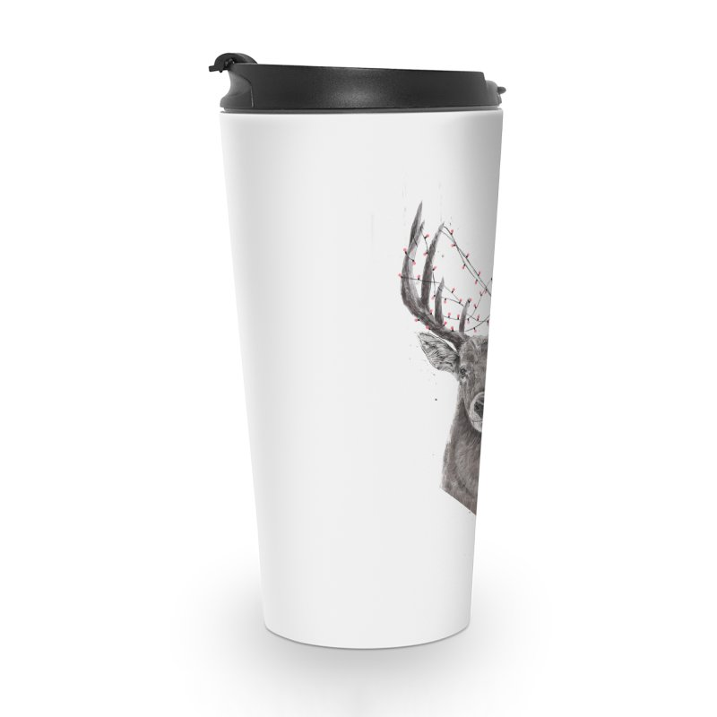 Xmas deer Accessories Travel Mug by Balazs Solti
