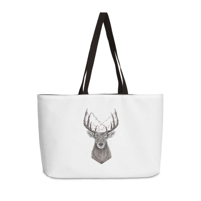 Xmas deer Accessories Weekender Bag Bag by Balazs Solti