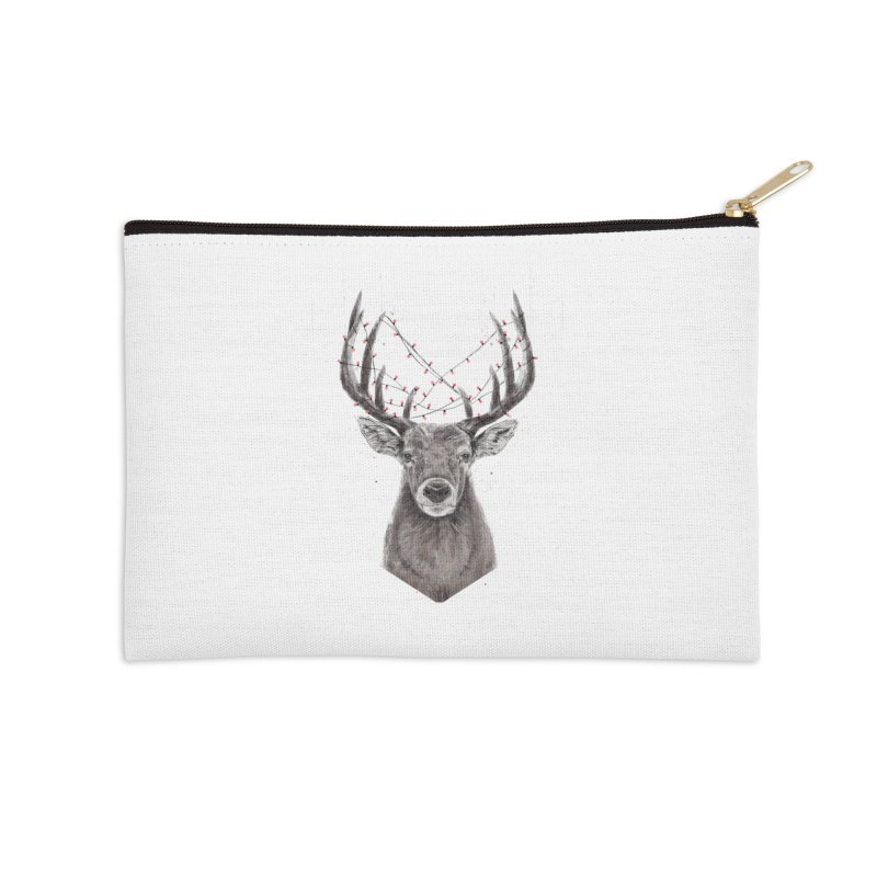 Xmas deer Accessories Zip Pouch by Balazs Solti