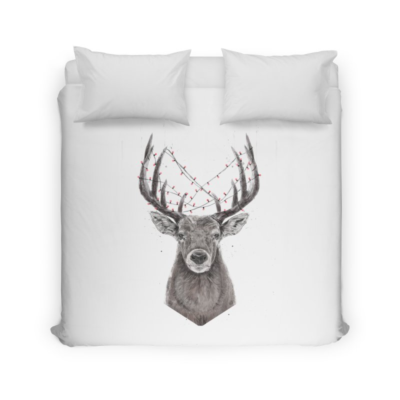 Xmas deer Home Duvet by Balazs Solti