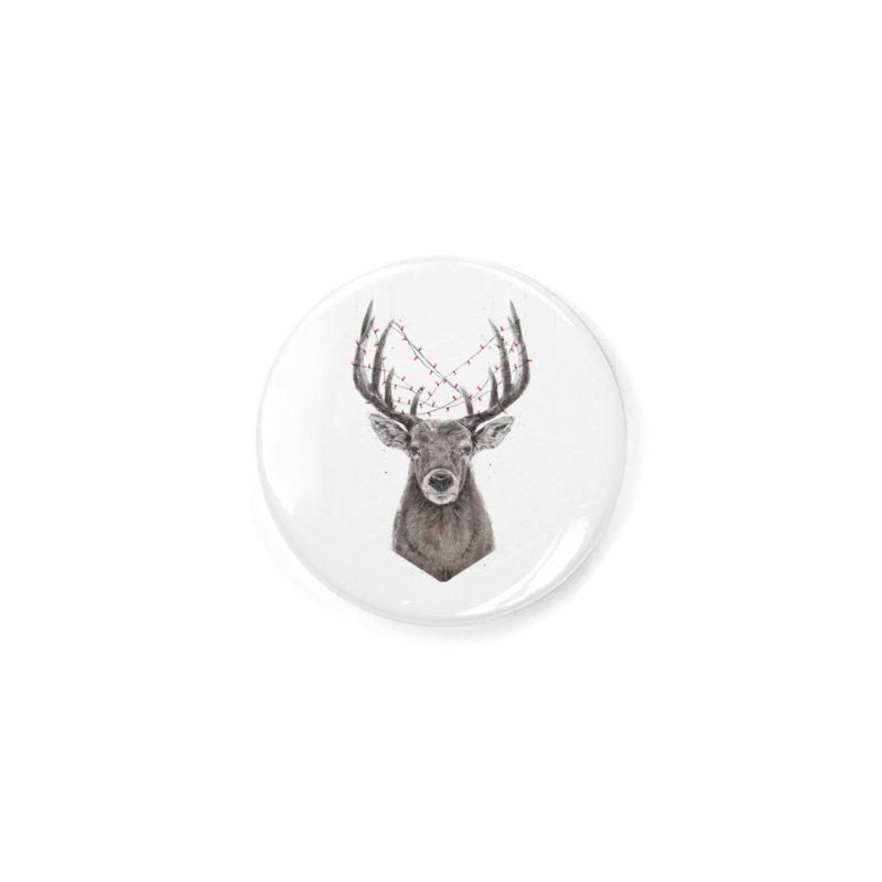 Xmas deer Accessories Button by Balazs Solti