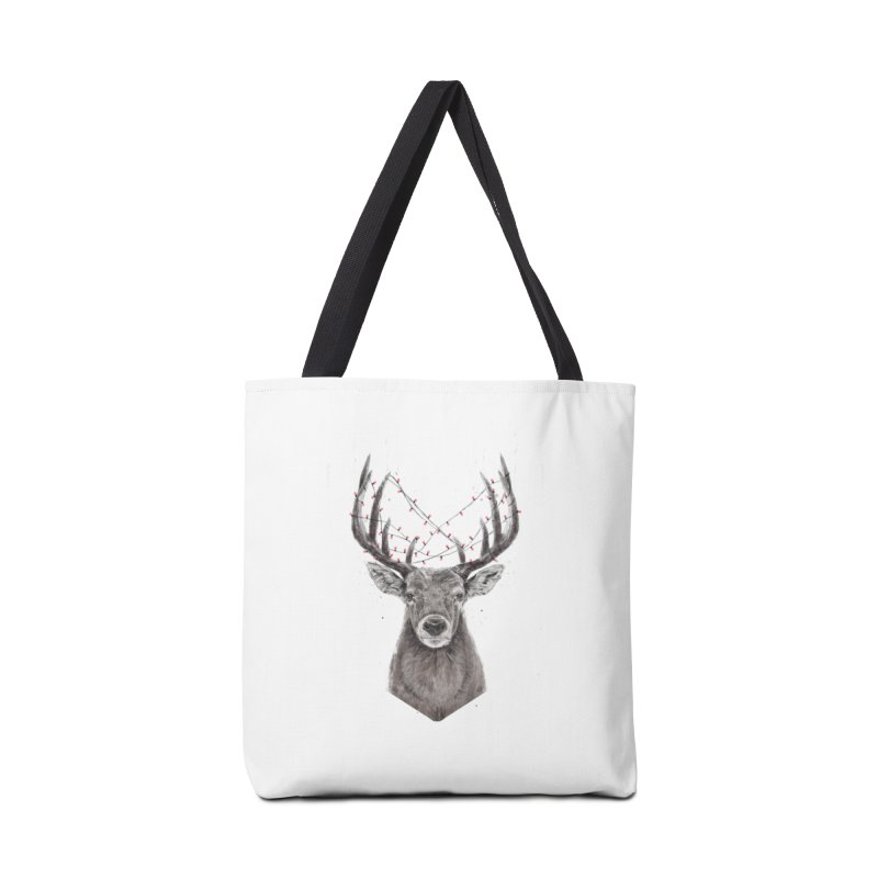 Xmas deer Accessories Tote Bag Bag by Balazs Solti