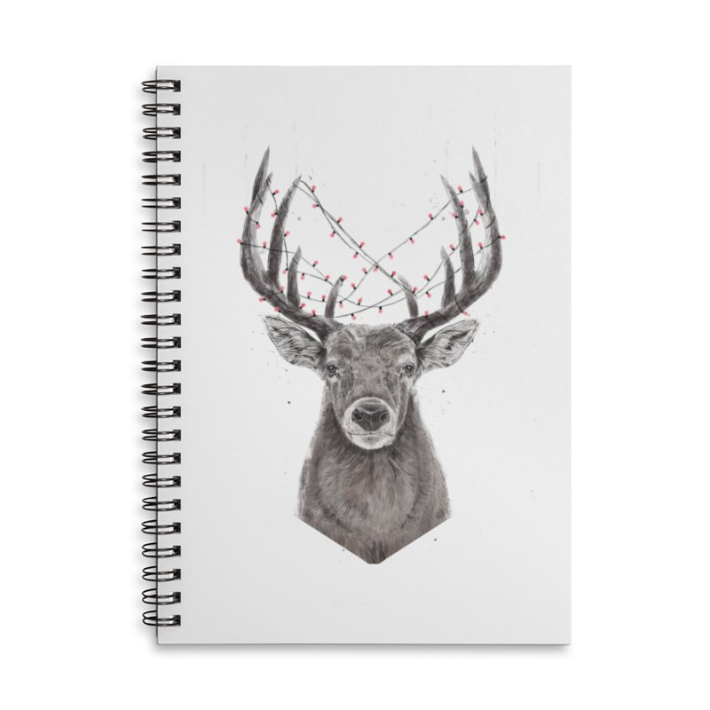 Xmas deer Accessories Lined Spiral Notebook by Balazs Solti