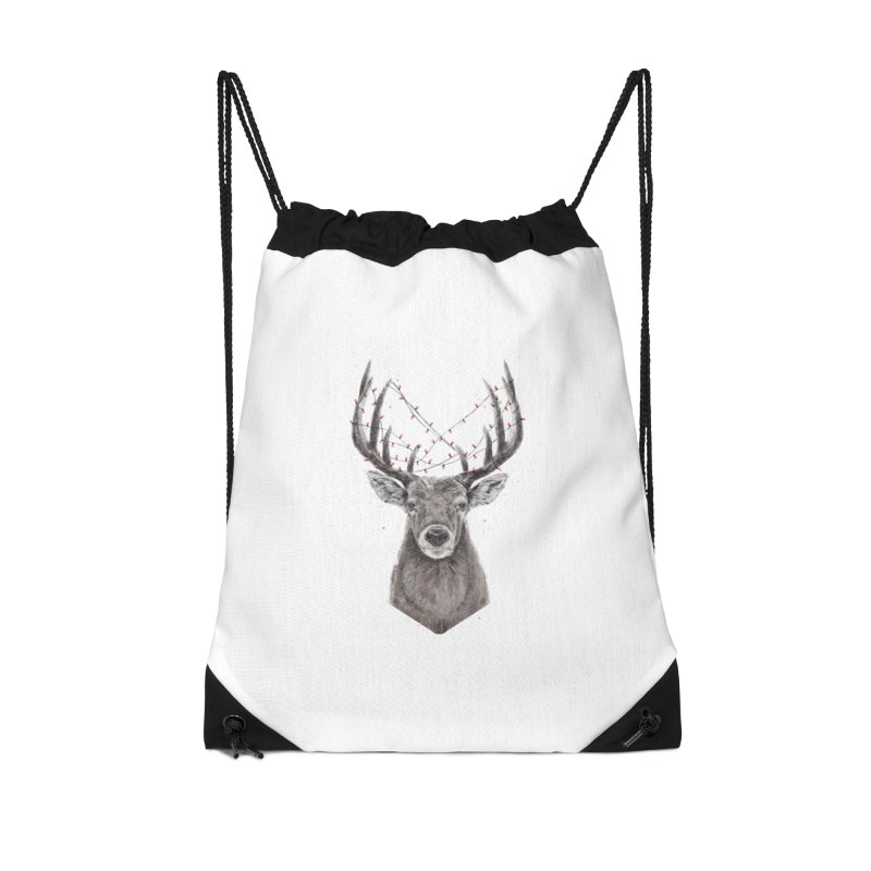 Xmas deer Accessories Drawstring Bag Bag by Balazs Solti