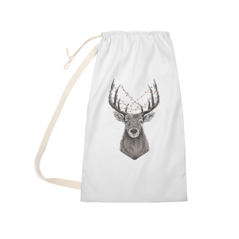 Xmas deer Accessories Laundry Bag Bag by Balazs Solti