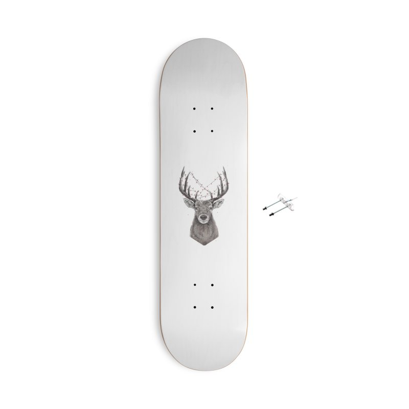 Xmas deer Accessories With Hanging Hardware Skateboard by Balazs Solti