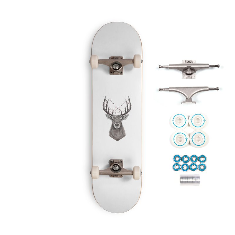 Xmas deer Accessories Skateboard by Balazs Solti