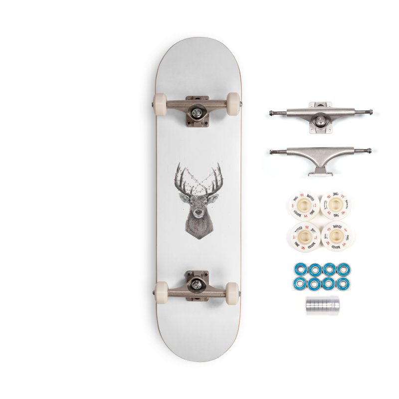 Xmas deer Accessories Complete - Premium Skateboard by Balazs Solti