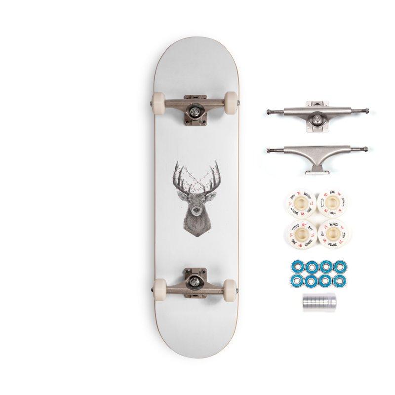 Xmas deer Accessories Skateboard by Balazs Solti