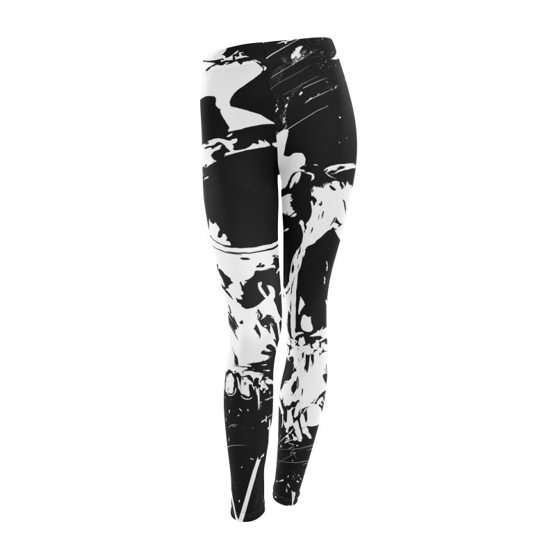 Skull X (bw) Women's Leggings Bottoms by Balazs Solti