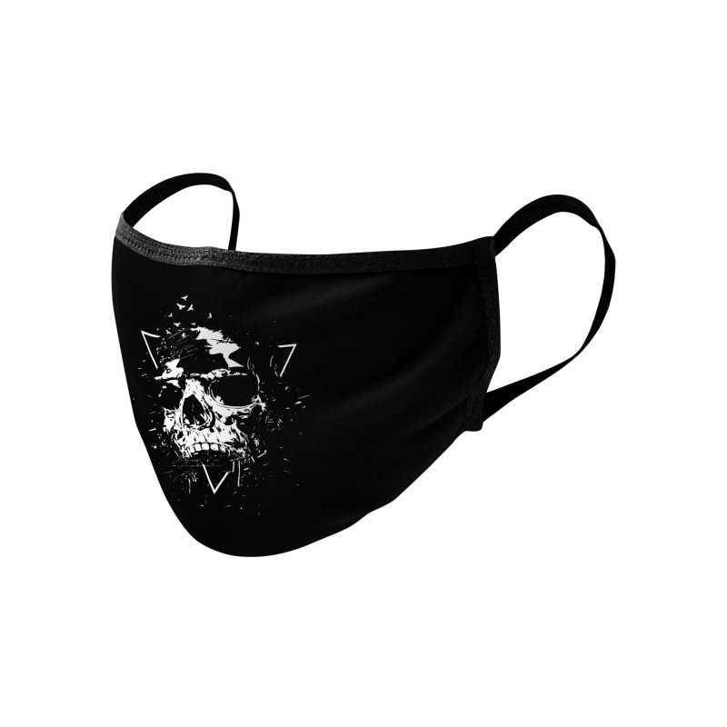 Skull X (bw) Accessories Face Mask by Balazs Solti