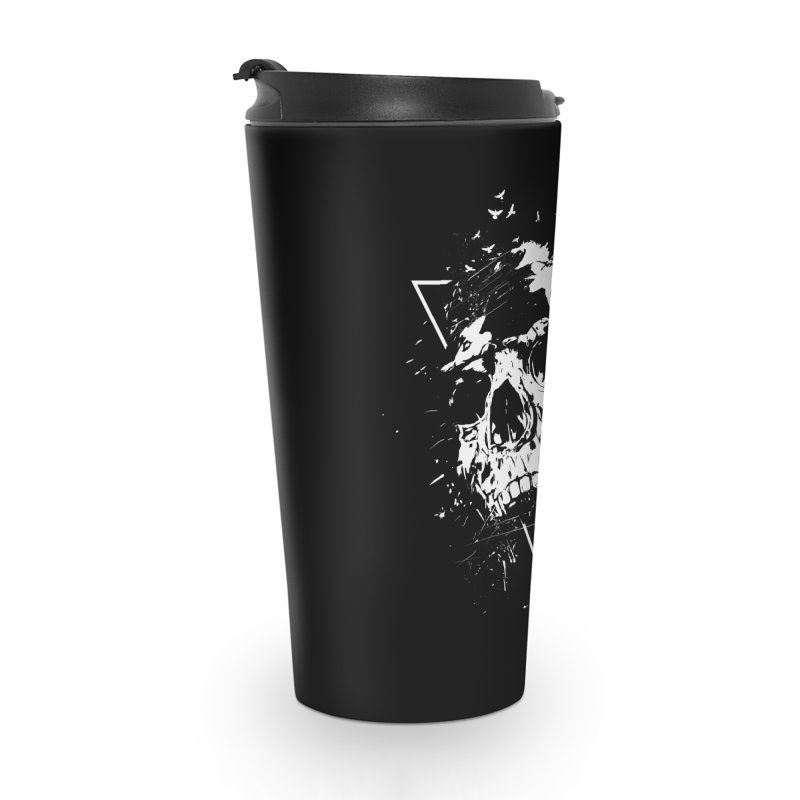 Skull X (bw) Accessories Travel Mug by Balazs Solti