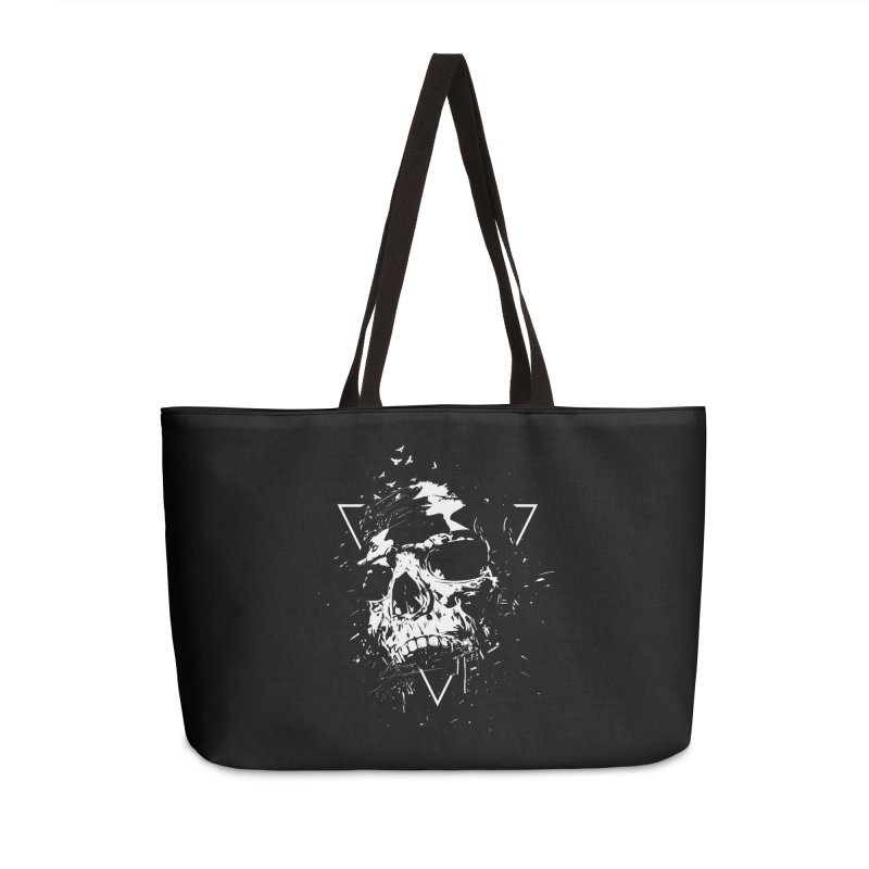 Skull X (bw) Accessories Weekender Bag Bag by Balazs Solti