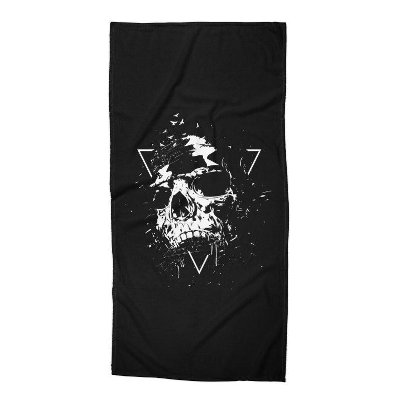 Skull X (bw) Accessories Beach Towel by Balazs Solti