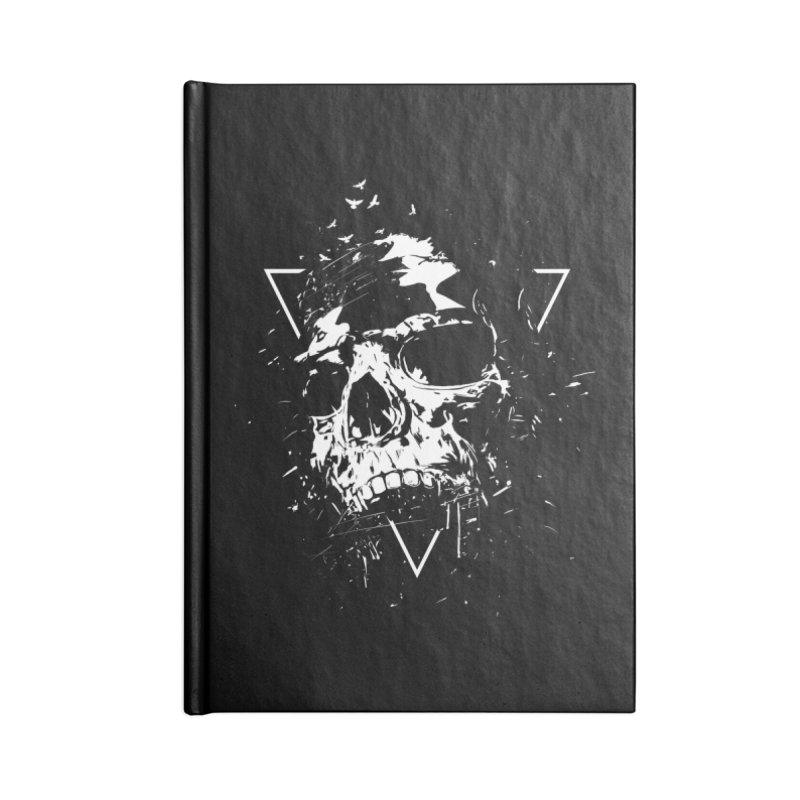 Skull X (bw) Accessories Blank Journal Notebook by Balazs Solti