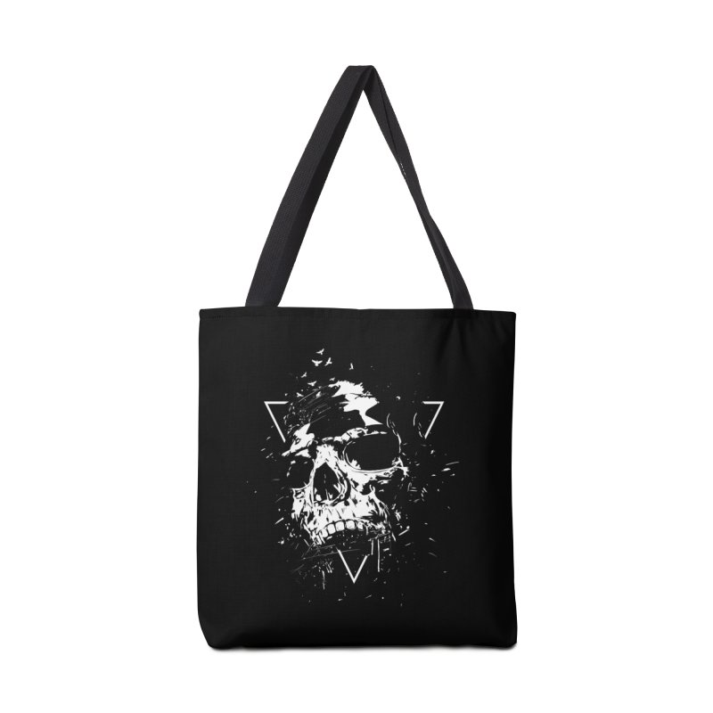 Skull X (bw) Accessories Tote Bag Bag by Balazs Solti
