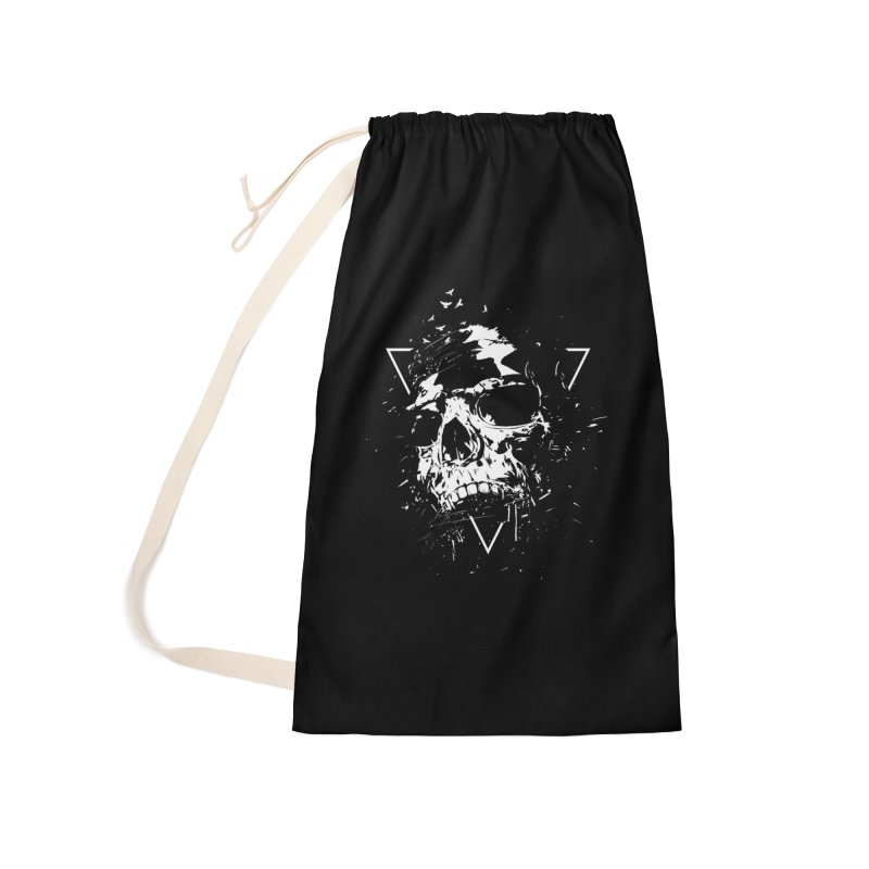 Skull X (bw) Accessories Laundry Bag Bag by Balazs Solti