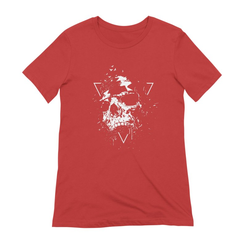 Skull X (bw) Women's Extra Soft T-Shirt by Balazs Solti