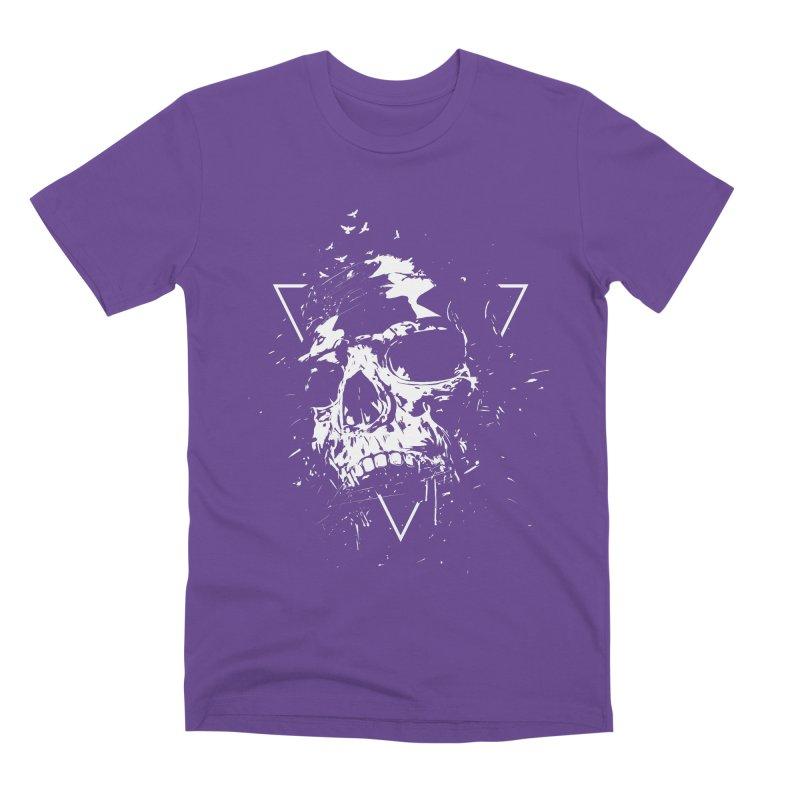 Skull X (bw) Men's Premium T-Shirt by Balazs Solti