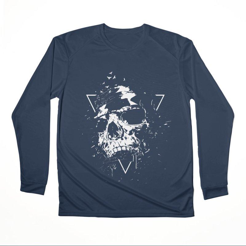 Skull X (bw) Men's Performance Longsleeve T-Shirt by Balazs Solti