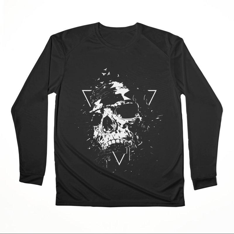 Skull X (bw) Men's Longsleeve T-Shirt by Balazs Solti
