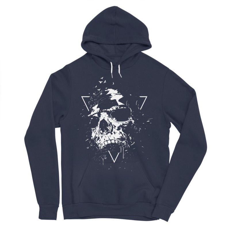 Skull X (bw) Men's Sponge Fleece Pullover Hoody by Balazs Solti