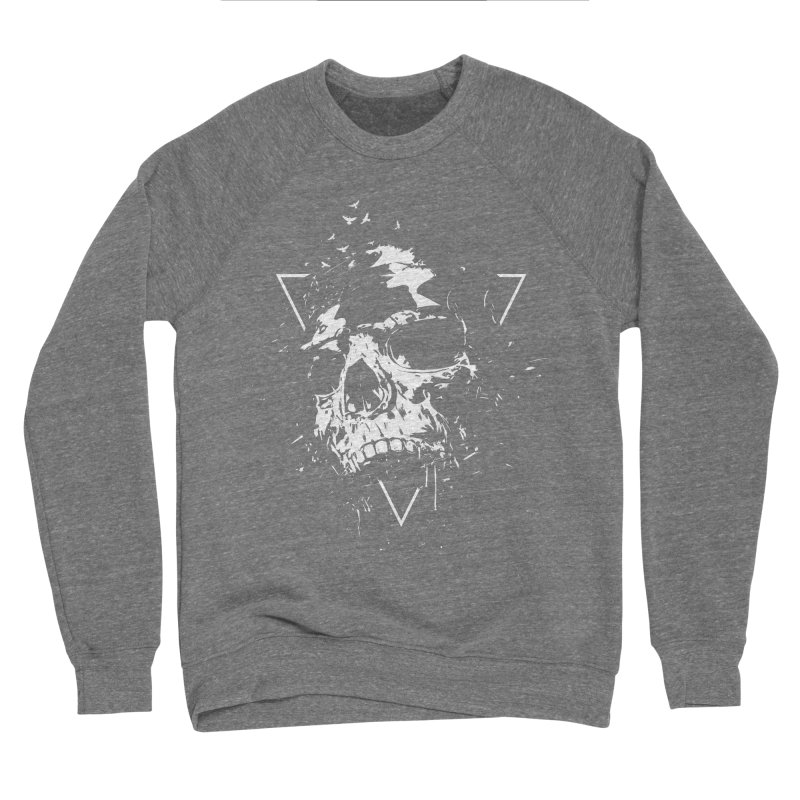 Skull X (bw) Men's Sponge Fleece Sweatshirt by Balazs Solti