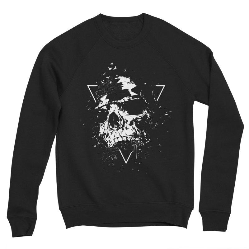 Skull X (bw) Men's Sponge Fleece Sweatshirt by Balazs Solti