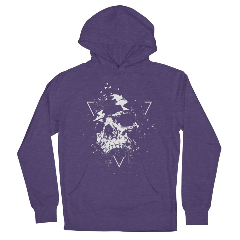 Skull X (bw) Women's French Terry Pullover Hoody by Balazs Solti