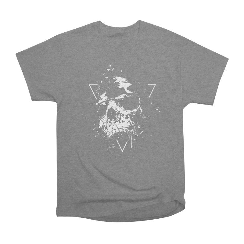 Skull X (bw) Women's Heavyweight Unisex T-Shirt by Balazs Solti