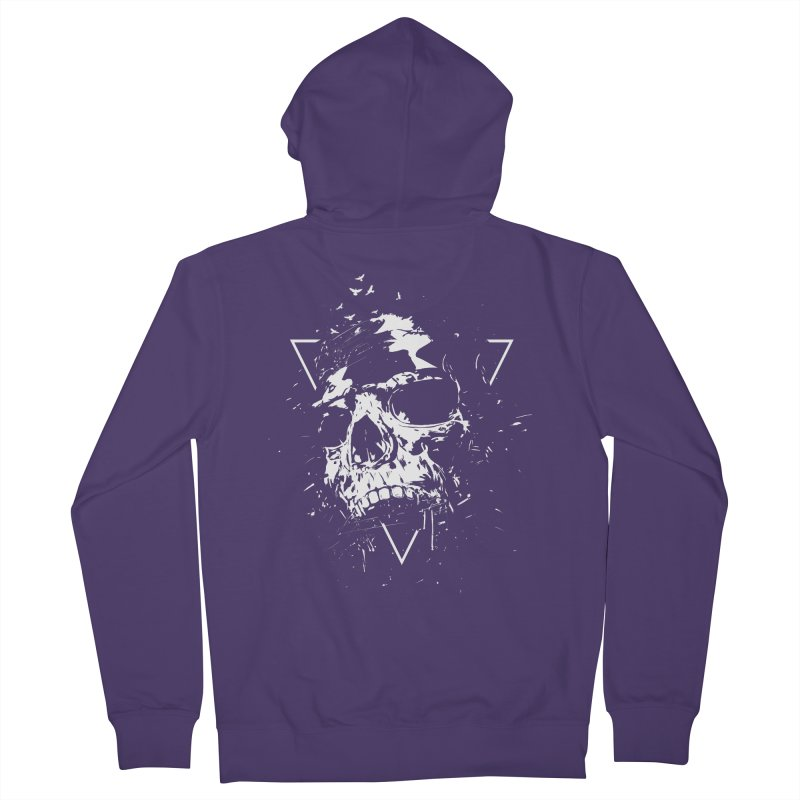 Skull X (bw) Women's Zip-Up Hoody by Balazs Solti