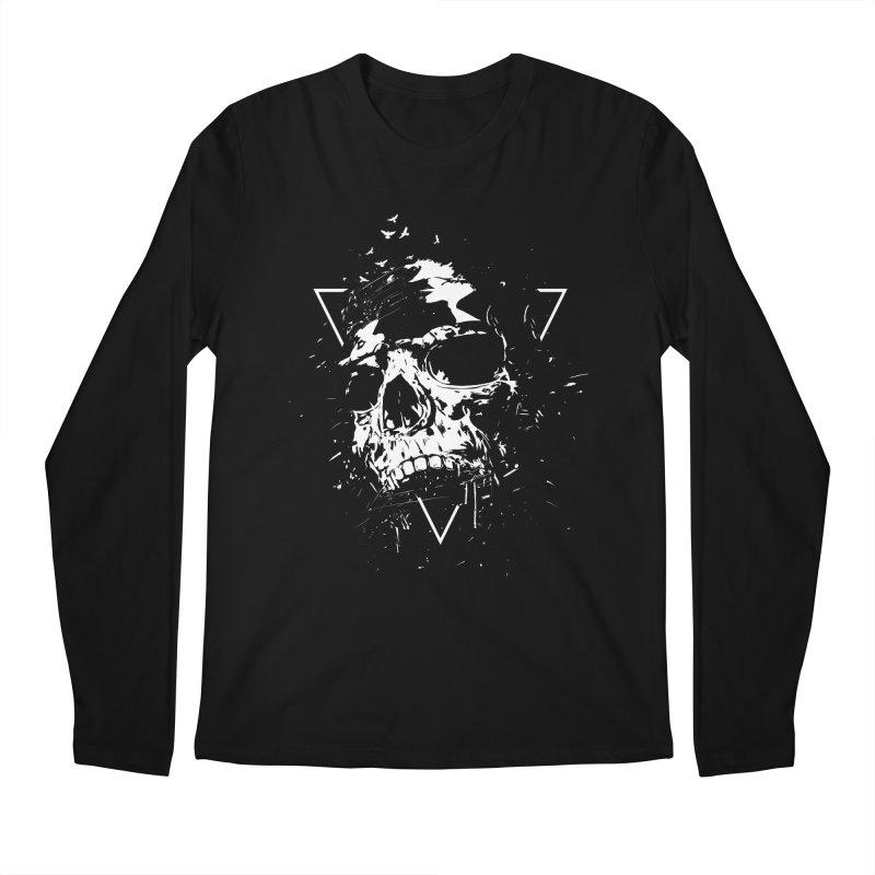 Skull X (bw) Men's Regular Longsleeve T-Shirt by Balazs Solti