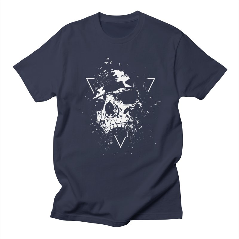 Skull X (bw) Men's T-Shirt by Balazs Solti