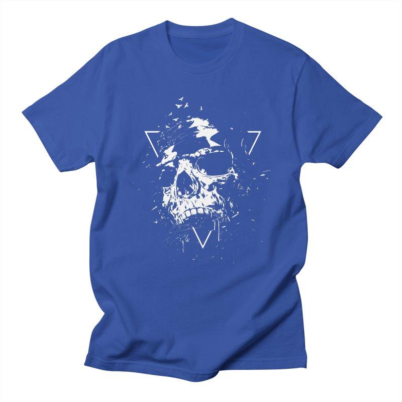 Skull X (bw) Men's T-Shirt by Balazs Solti