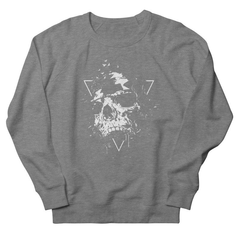 Skull X (bw) Women's French Terry Sweatshirt by Balazs Solti